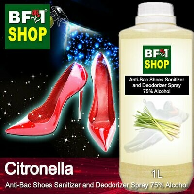 Anti-Bac Shoes Sanitizer and Deodorizer Spray (ABSSD) - 75% Alcohol with Citronella - 1L