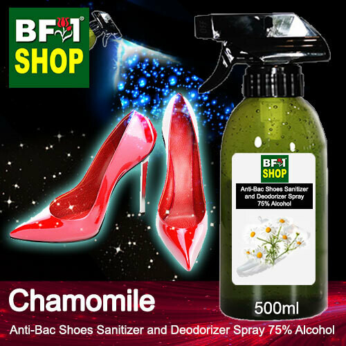 Anti-Bac Shoes Sanitizer and Deodorizer Spray (ABSSD) - 75% Alcohol with Chamomile - 500ml