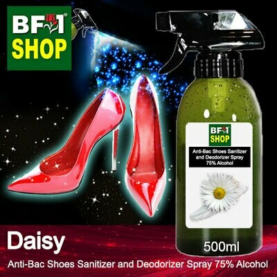 Anti-Bac Shoes Sanitizer and Deodorizer Spray (ABSSD) - 75% Alcohol with Daisy - 500ml