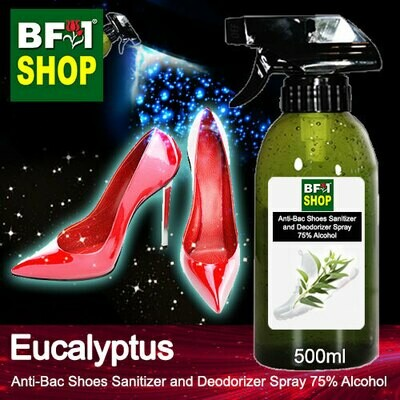 Anti-Bac Shoes Sanitizer and Deodorizer Spray (ABSSD) - 75% Alcohol with Eucalyptus - 500ml