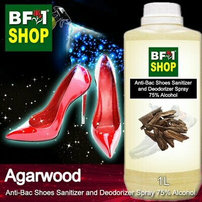 Anti-Bac Shoes Sanitizer and Deodorizer Spray (ABSSD) - 75% Alcohol with Agarwood - 1L