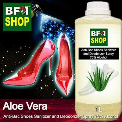 Anti-Bac Shoes Sanitizer and Deodorizer Spray (ABSSD) - 75% Alcohol with Aloe Vera - 1L