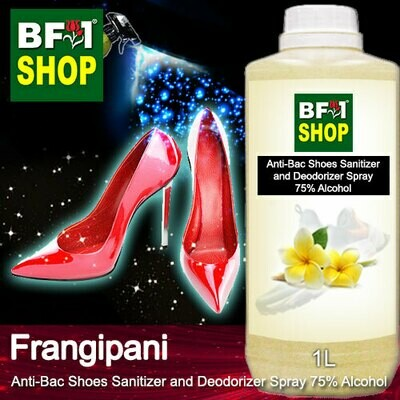 Anti-Bac Shoes Sanitizer and Deodorizer Spray (ABSSD) - 75% Alcohol with Frangipani - 1L