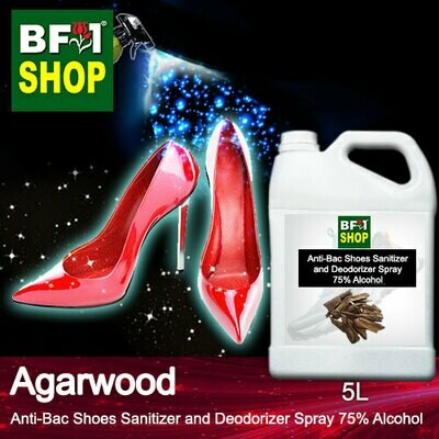 Anti-Bac Shoes Sanitizer and Deodorizer Spray (ABSSD) - 75% Alcohol with Agarwood - 5L