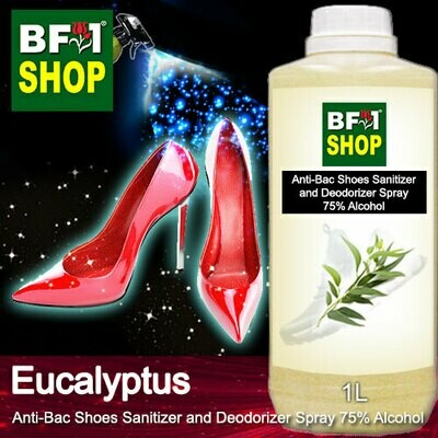 Anti-Bac Shoes Sanitizer and Deodorizer Spray (ABSSD) - 75% Alcohol with Eucalyptus - 1L