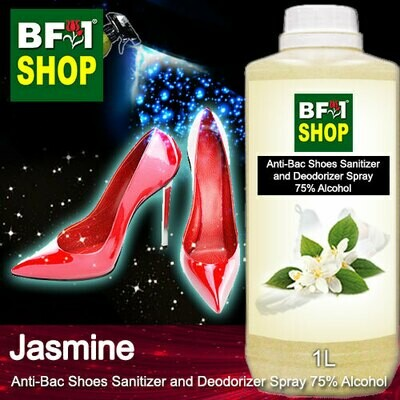 Anti-Bac Shoes Sanitizer and Deodorizer Spray (ABSSD) - 75% Alcohol with Jasmine - 1L