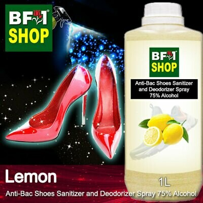Anti-Bac Shoes Sanitizer and Deodorizer Spray (ABSSD) - 75% Alcohol with Lemon - 1L