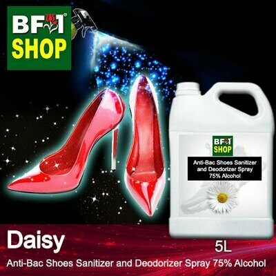 Anti-Bac Shoes Sanitizer and Deodorizer Spray (ABSSD) - 75% Alcohol with Daisy - 5L