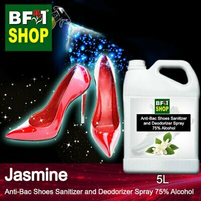 Anti-Bac Shoes Sanitizer and Deodorizer Spray (ABSSD) - 75% Alcohol with Jasmine - 5L