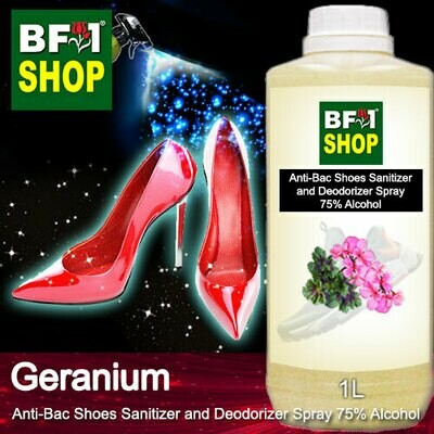 Anti-Bac Shoes Sanitizer and Deodorizer Spray (ABSSD) - 75% Alcohol with Geranium - 1L