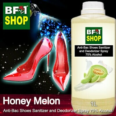 Anti-Bac Shoes Sanitizer and Deodorizer Spray (ABSSD) - 75% Alcohol with Honey Melon - 1L