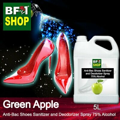 Anti-Bac Shoes Sanitizer and Deodorizer Spray (ABSSD) - 75% Alcohol with Apple - Green Apple - 5L