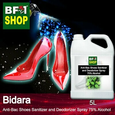 Anti-Bac Shoes Sanitizer and Deodorizer Spray (ABSSD) - 75% Alcohol with Bidara - 5L