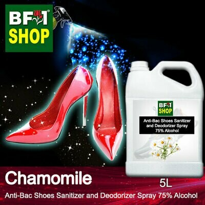 Anti-Bac Shoes Sanitizer and Deodorizer Spray (ABSSD) - 75% Alcohol with Chamomile - 5L