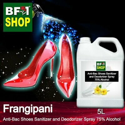Anti-Bac Shoes Sanitizer and Deodorizer Spray (ABSSD) - 75% Alcohol with Frangipani - 5L
