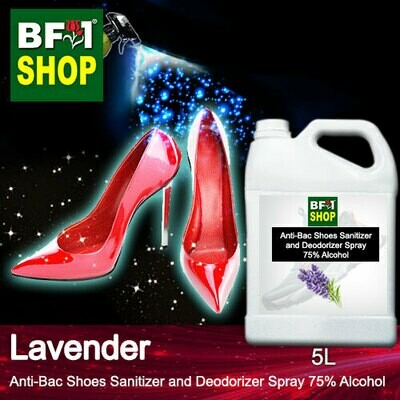 Anti-Bac Shoes Sanitizer and Deodorizer Spray (ABSSD) - 75% Alcohol with Lavender - 5L