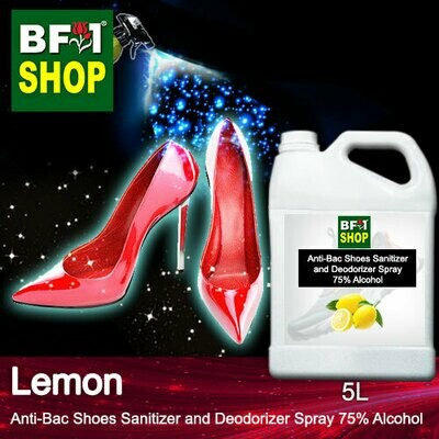 Anti-Bac Shoes Sanitizer and Deodorizer Spray (ABSSD) - 75% Alcohol with Lemon - 5L