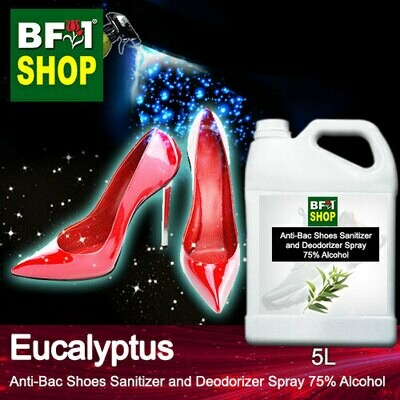 Anti-Bac Shoes Sanitizer and Deodorizer Spray (ABSSD) - 75% Alcohol with Eucalyptus - 5L
