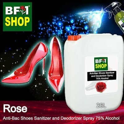 Anti-Bac Shoes Sanitizer and Deodorizer Spray (ABSSD) - 75% Alcohol with Rose - 25L