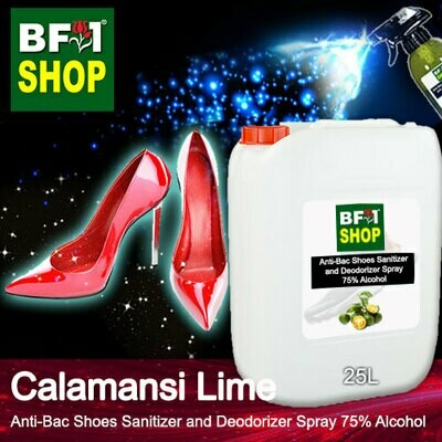 Anti-Bac Shoes Sanitizer and Deodorizer Spray (ABSSD) - 75% Alcohol with lime - Calamansi Lime - 25L