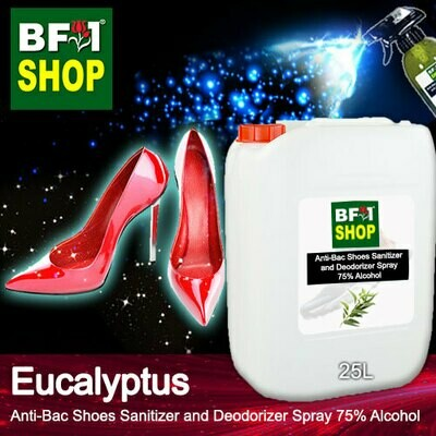Anti-Bac Shoes Sanitizer and Deodorizer Spray (ABSSD) - 75% Alcohol with Eucalyptus - 25L
