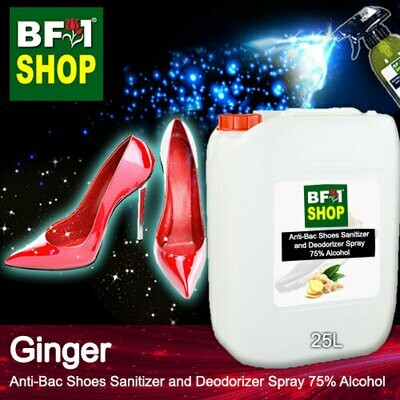 Anti-Bac Shoes Sanitizer and Deodorizer Spray (ABSSD) - 75% Alcohol with Ginger - 25L