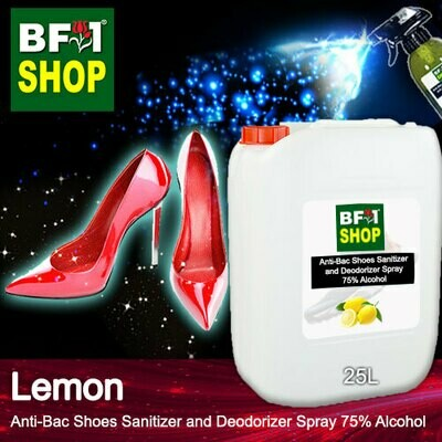 Anti-Bac Shoes Sanitizer and Deodorizer Spray (ABSSD) - 75% Alcohol with Lemon - 25L