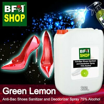 Anti-Bac Shoes Sanitizer and Deodorizer Spray (ABSSD) - 75% Alcohol with Lemon - Green Lemon - 25L