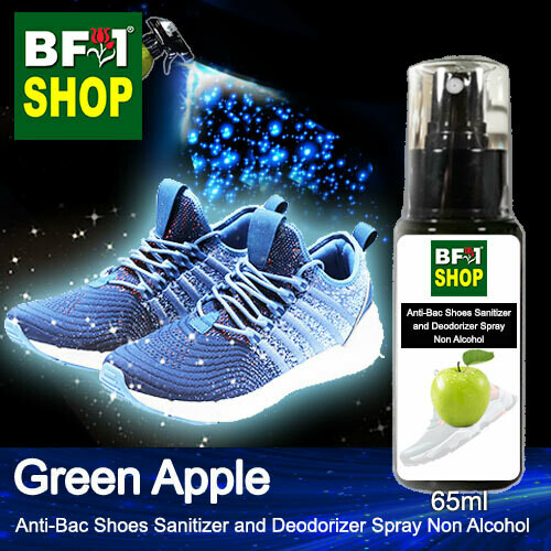 Anti-Bac Shoes Sanitizer and Deodorizer Spray (ABSSD) - Non Alcohol with Apple - Green Apple - 65ml