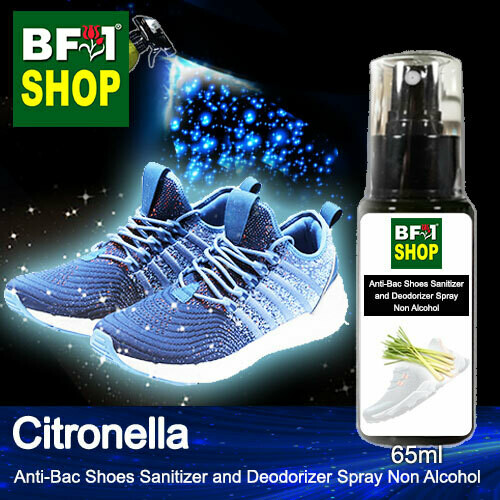 Anti-Bac Shoes Sanitizer and Deodorizer Spray (ABSSD) - Non Alcohol with Citronella - 65ml