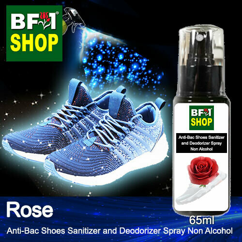 Anti-Bac Shoes Sanitizer and Deodorizer Spray (ABSSD) - Non Alcohol with Rose - 65ml