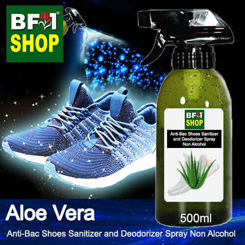 Anti-Bac Shoes Sanitizer and Deodorizer Spray (ABSSD) - Non Alcohol with Aloe Vera - 500ml