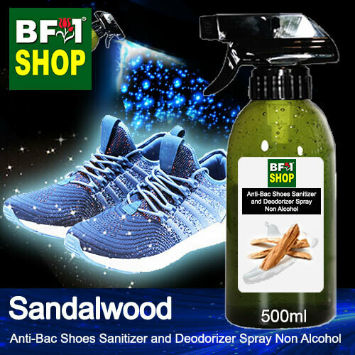 Anti-Bac Shoes Sanitizer and Deodorizer Spray (ABSSD) - Non Alcohol with Sandalwood - 500ml