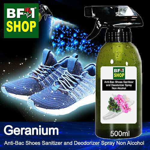 Anti-Bac Shoes Sanitizer and Deodorizer Spray (ABSSD) - Non Alcohol with Geranium - 500ml