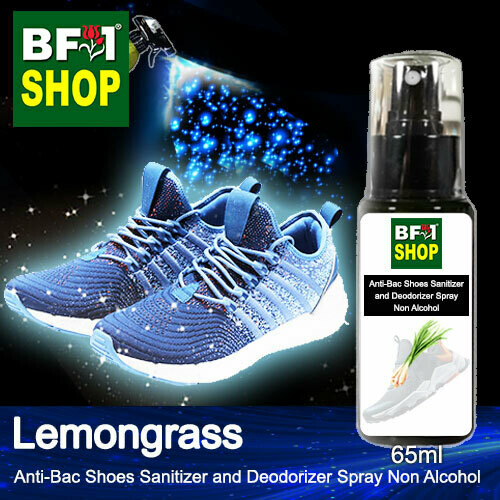 Anti-Bac Shoes Sanitizer and Deodorizer Spray (ABSSD) - Non Alcohol with Lemongrass - 65ml