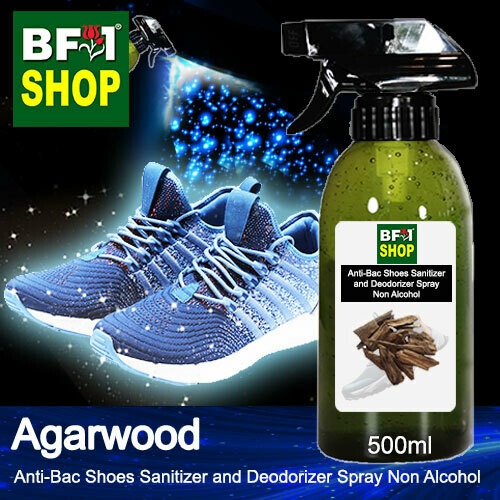 Anti-Bac Shoes Sanitizer and Deodorizer Spray (ABSSD) - Non Alcohol with Agarwood - 500ml
