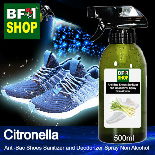 Anti-Bac Shoes Sanitizer and Deodorizer Spray (ABSSD) - Non Alcohol with Citronella - 500ml