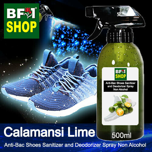 Anti-Bac Shoes Sanitizer and Deodorizer Spray (ABSSD) - Non Alcohol with lime - Calamansi Lime - 500ml