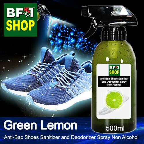 Anti-Bac Shoes Sanitizer and Deodorizer Spray (ABSSD) - Non Alcohol with Lemon - Green Lemon - 500ml