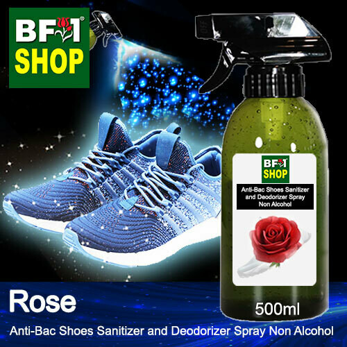 Anti-Bac Shoes Sanitizer and Deodorizer Spray (ABSSD) - Non Alcohol with Rose - 500ml