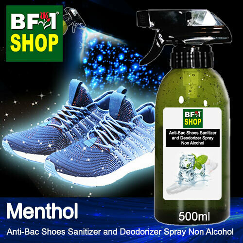 Anti-Bac Shoes Sanitizer and Deodorizer Spray (ABSSD) - Non Alcohol with Menthol - 500ml