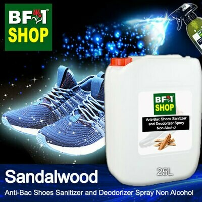 Anti-Bac Shoes Sanitizer and Deodorizer Spray (ABSSD) - Non Alcohol with Sandalwood - 25L