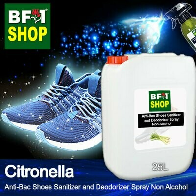 Anti-Bac Shoes Sanitizer and Deodorizer Spray (ABSSD) - Non Alcohol with Citronella - 25L