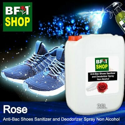 Anti-Bac Shoes Sanitizer and Deodorizer Spray (ABSSD) - Non Alcohol with Rose - 25L