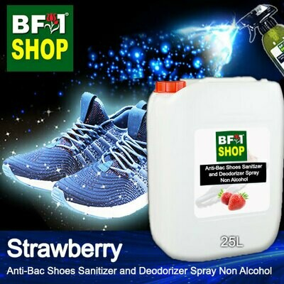 Anti-Bac Shoes Sanitizer and Deodorizer Spray (ABSSD) - Non Alcohol with Strawberry - 25L