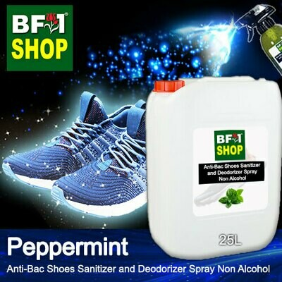 Anti-Bac Shoes Sanitizer and Deodorizer Spray (ABSSD) - Non Alcohol with mint - Peppermint - 25L