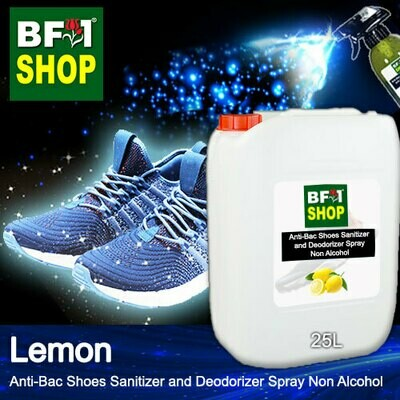 Anti-Bac Shoes Sanitizer and Deodorizer Spray (ABSSD) - Non Alcohol with Lemon - 25L