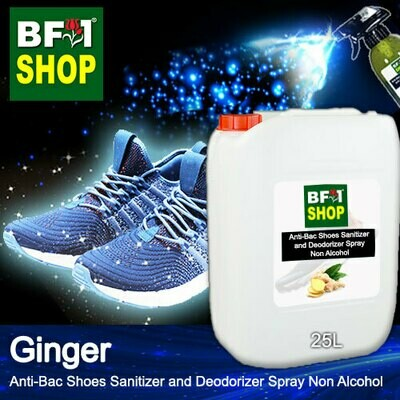 Anti-Bac Shoes Sanitizer and Deodorizer Spray (ABSSD) - Non Alcohol with Ginger - 25L