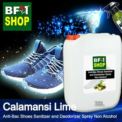 Anti-Bac Shoes Sanitizer and Deodorizer Spray (ABSSD) - Non Alcohol with lime - Calamansi Lime - 25L