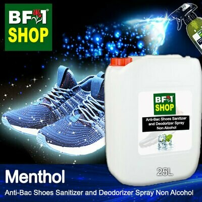 Anti-Bac Shoes Sanitizer and Deodorizer Spray (ABSSD) - Non Alcohol with Menthol - 25L